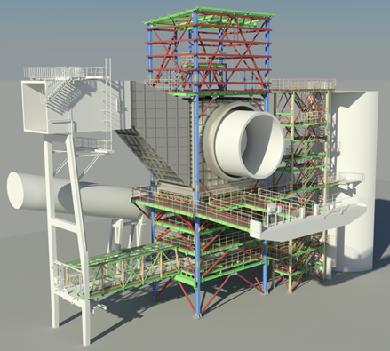 Industry/ Cement – LafargeHolcim Obourg, Belgium – reconstruction of Kiln 10, smoke chamber, engineering and mechanical erection