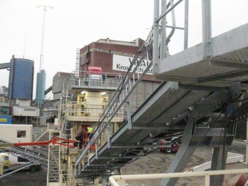 Industry/ Construction materials – Vikan Kross OCH Asfalt AB, Sweden – grinding workshop, mechanical erection