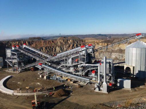 Industry/ Construction Materials – Sandvik Quarry Vensat, France, granulated slag grinding workshop, mechanical erection