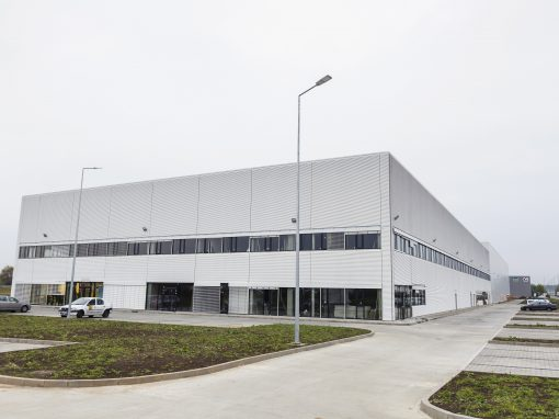 Buiding infrastructure/ Logistics parks – CTP Romania – interior and exterior electrical installations – 124,000 sqm